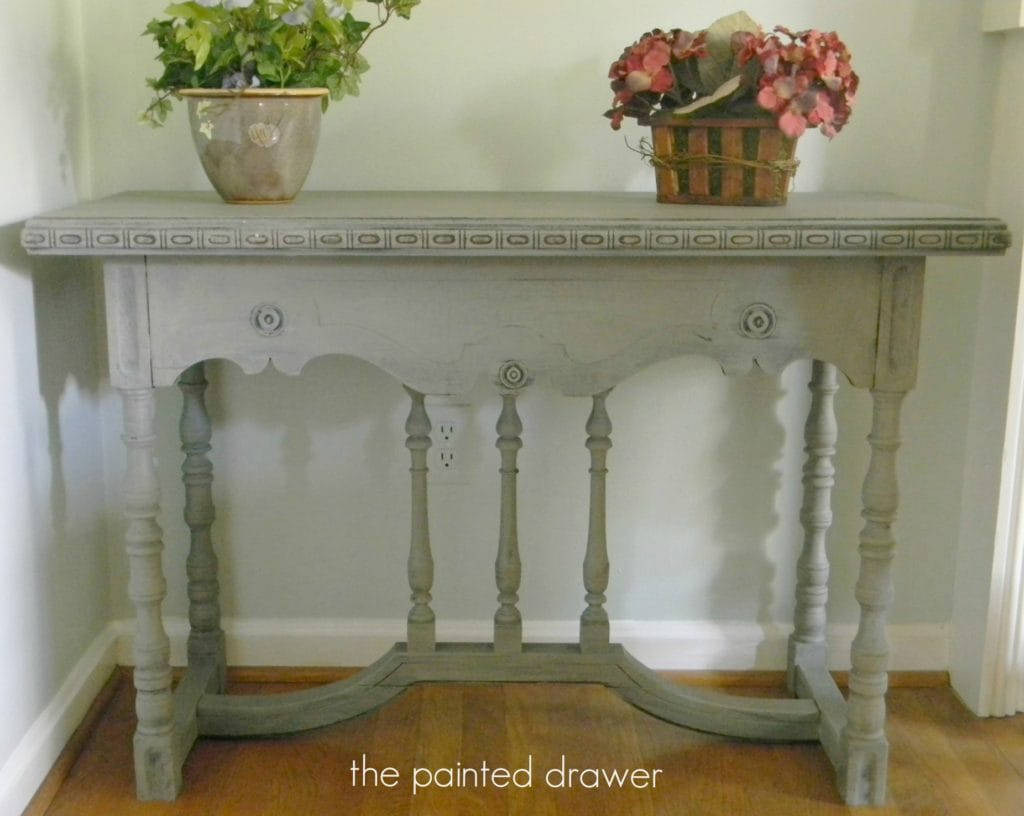 Vintage Table in French Linen