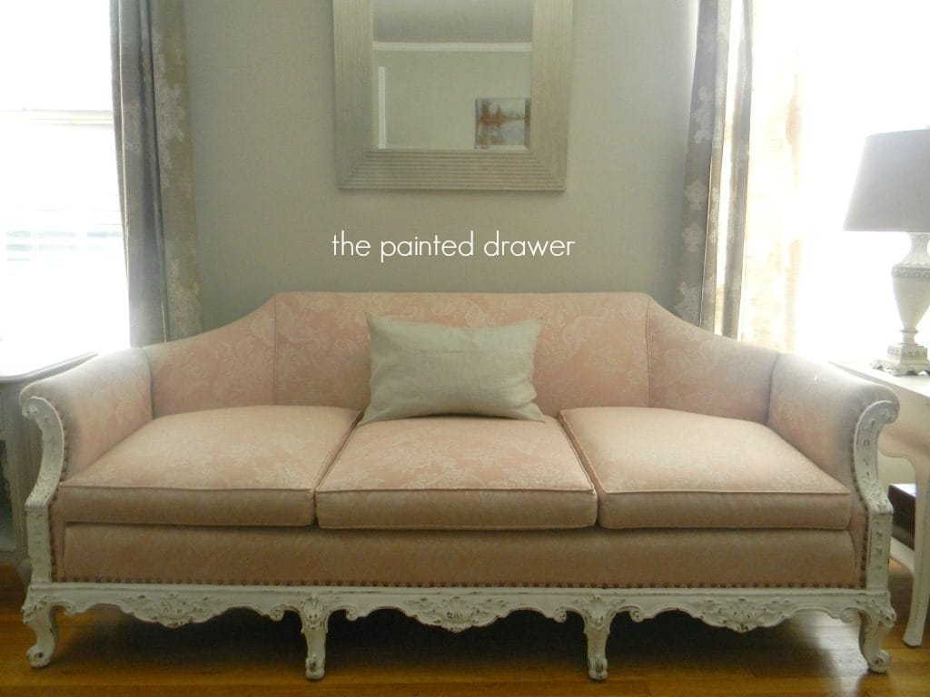 More on Pink and My Shabby Chic Sofa Find