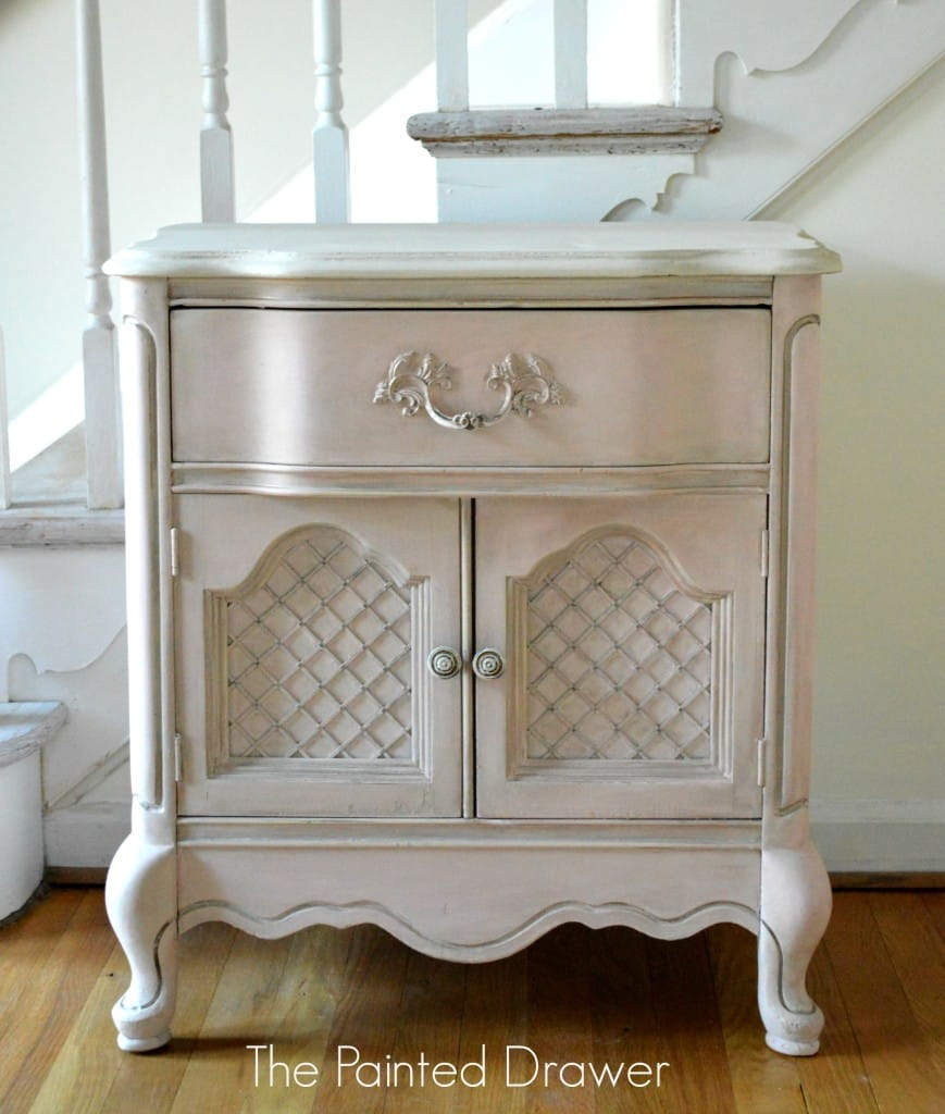 Pale Pink French Table www.thepainteddrawer.com