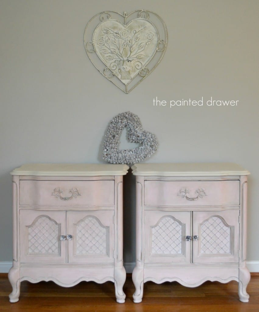 French Pink Tables www.thepainteddrawer.com