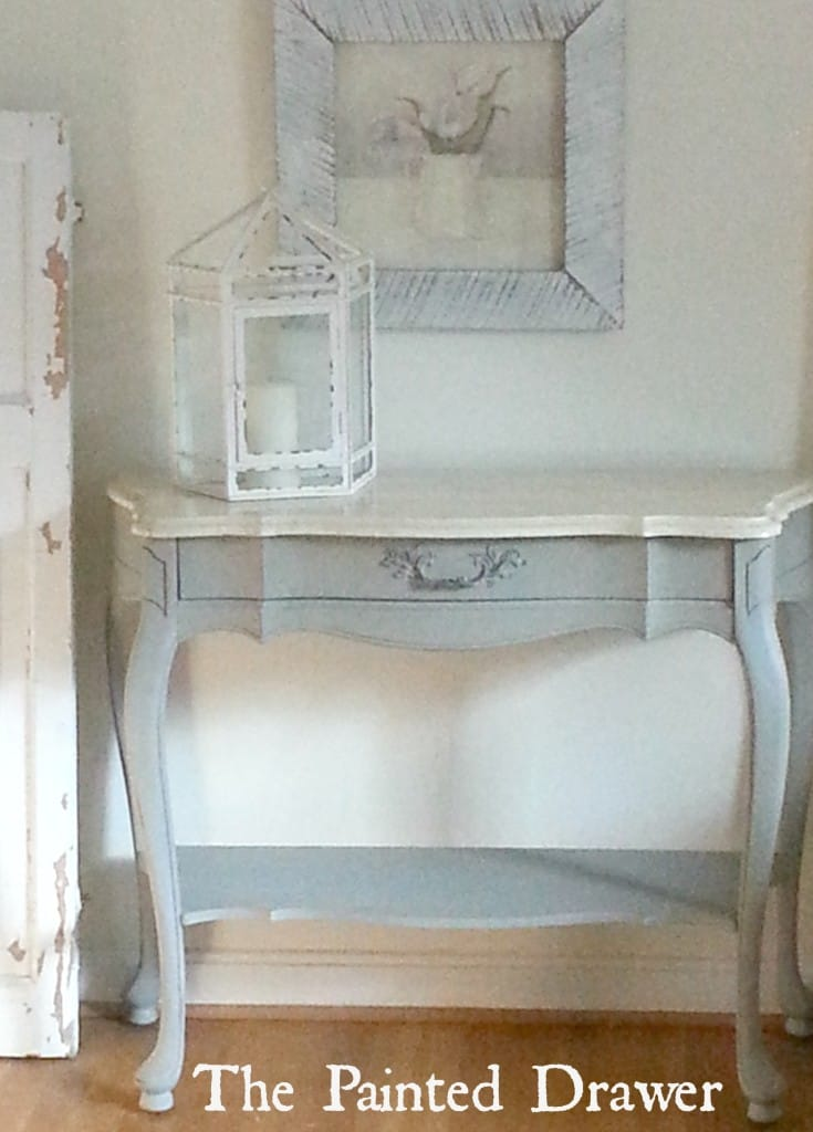 French Table with Marble Top French Linen