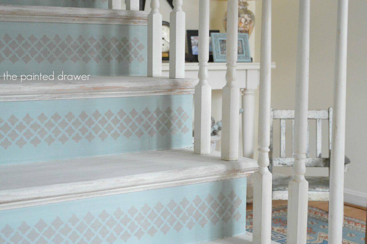 Stairs2 Whitewashed Stairs Www.thepainteddrawer.com