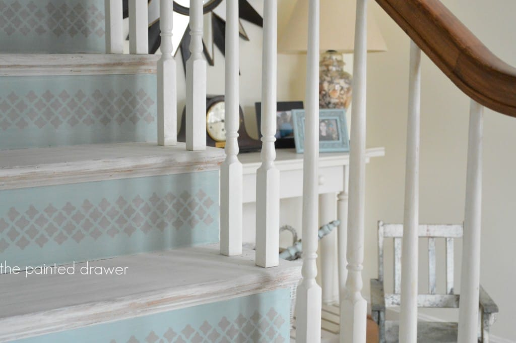 White Washed Stairs www.thepainteddrawer.com