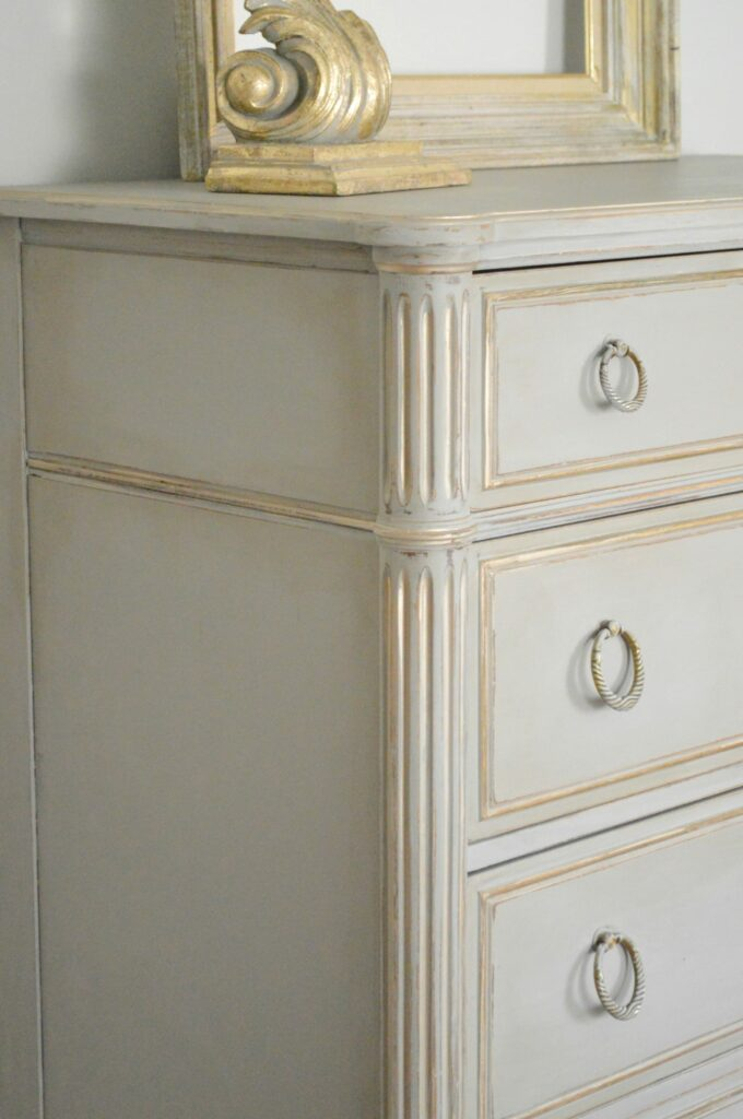 French Grey Dresser www.thepainteddrawer.com