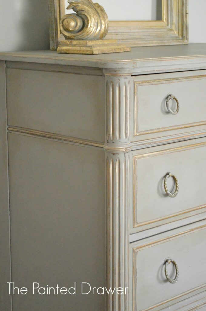 French Grey and Gold Dresser