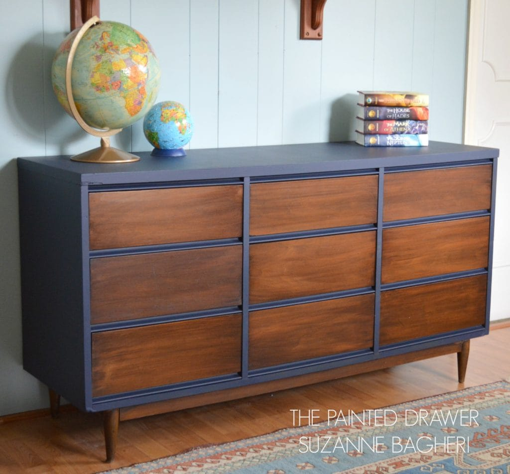 A Mid-Century Modern Dresser Before and After