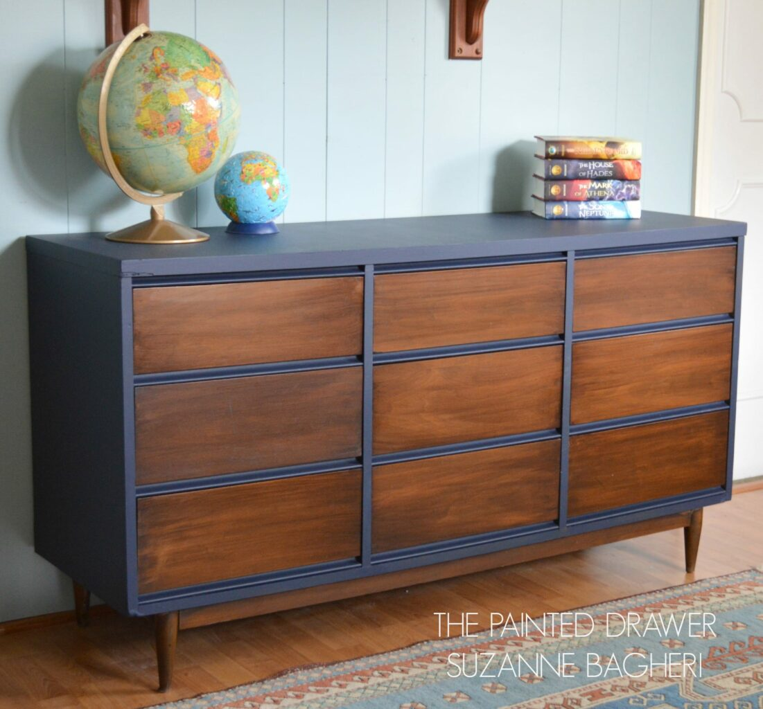 Mid Century Modern Dresser Makeover: A Mid-Century Modern Dresser Before And After