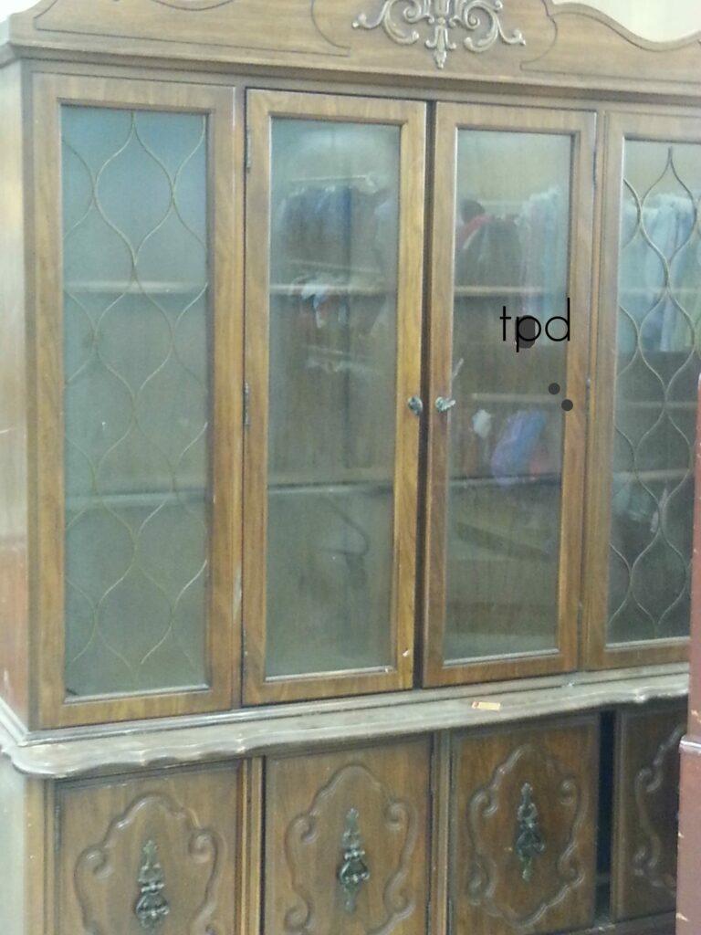 Vintage Bassett China Cabinet in Progress -