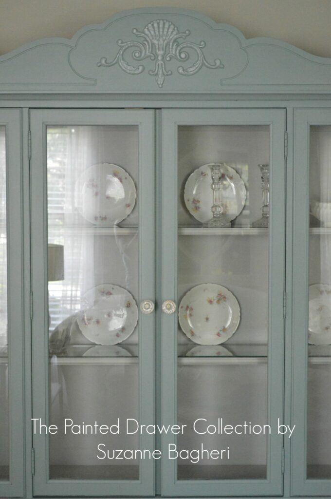 The Vintage Bassett China Cabinet - Before and After -