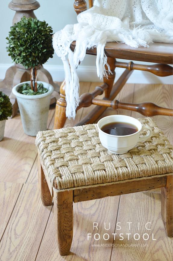 DIY Rustic Footstool anderson + grant