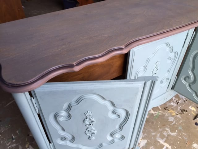 Vintage Bassett China Cabinet in Progress/ Part Two