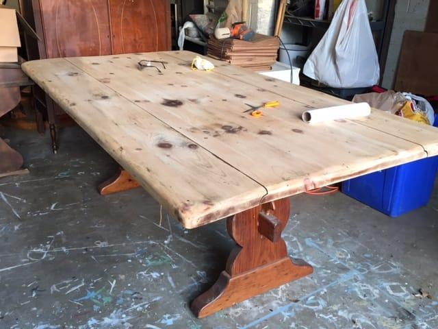 Progress on the Farmhouse Table