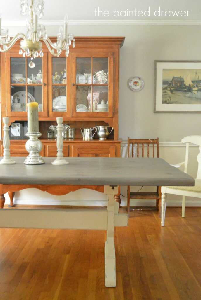 A Vintage Farmhouse Table Before And After Suzanne Bagheri