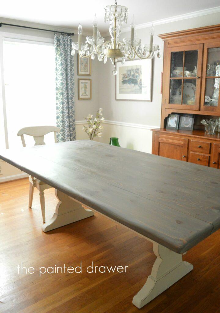 Farmhouse Table Gray Wood Stain