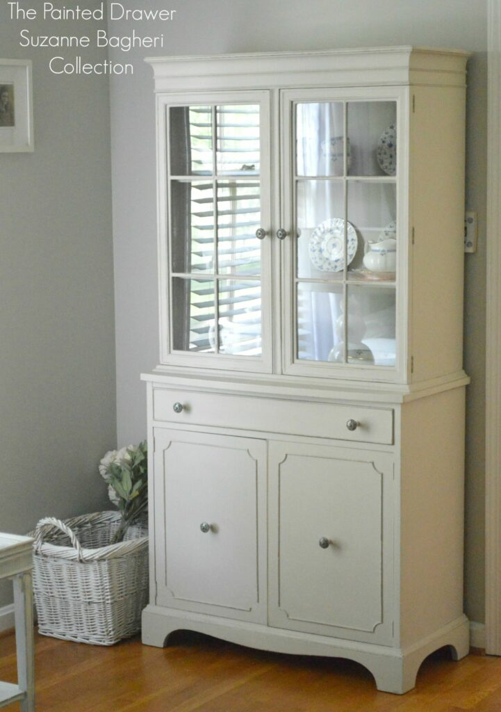 The Farmhouse Cabinet in Greige and Persimmon – Before and After