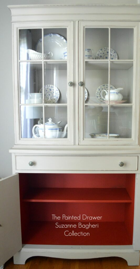 Greige Farmhouse Cabinet Interior