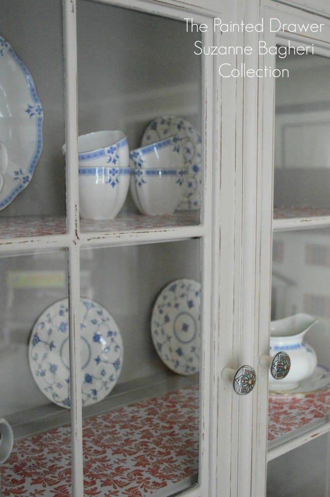 Greige Farmhouse Cabinet Shelving