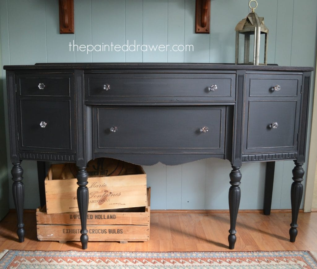Paint Color Highlight – General Finishes Lamp Black Milk Paint