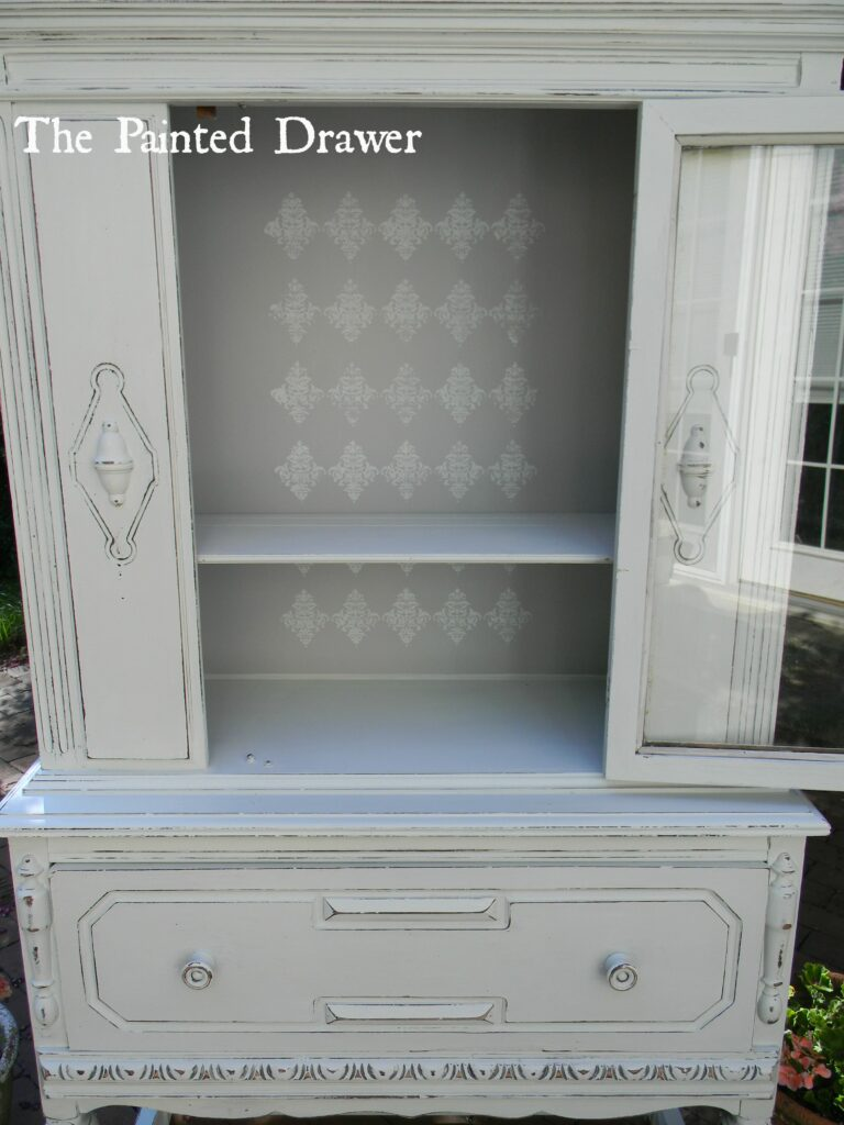 Shabby Chic Stenciled Cabinet