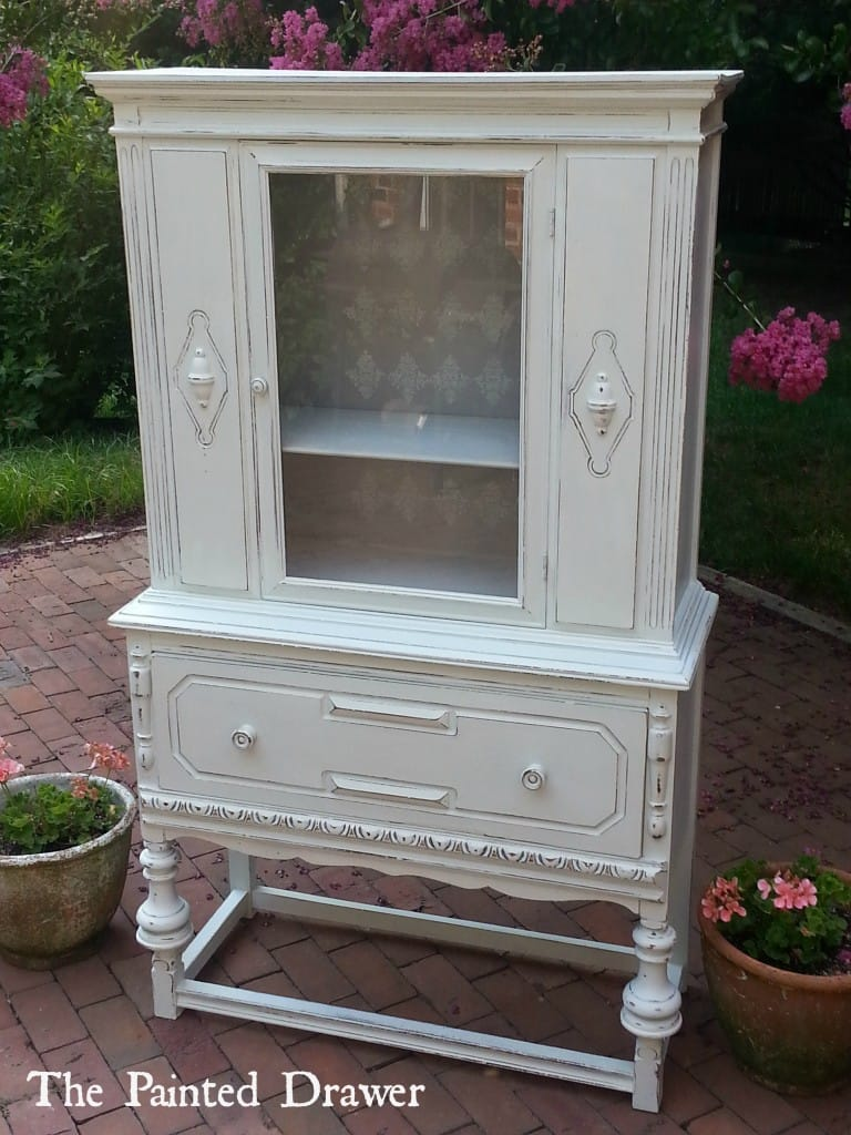 Shabby Chic Stenciled Cabinet2