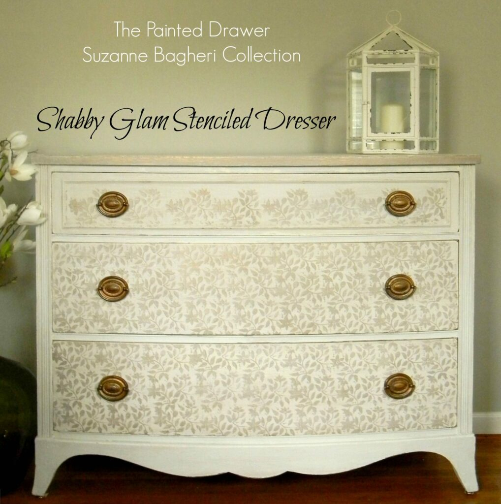 Stenciling Painted Furniture