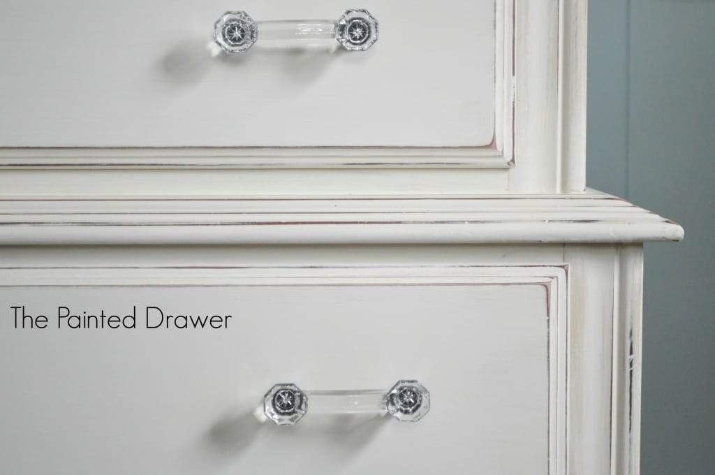 Painted White Vintage Chest www.thepaintedddrawer.com