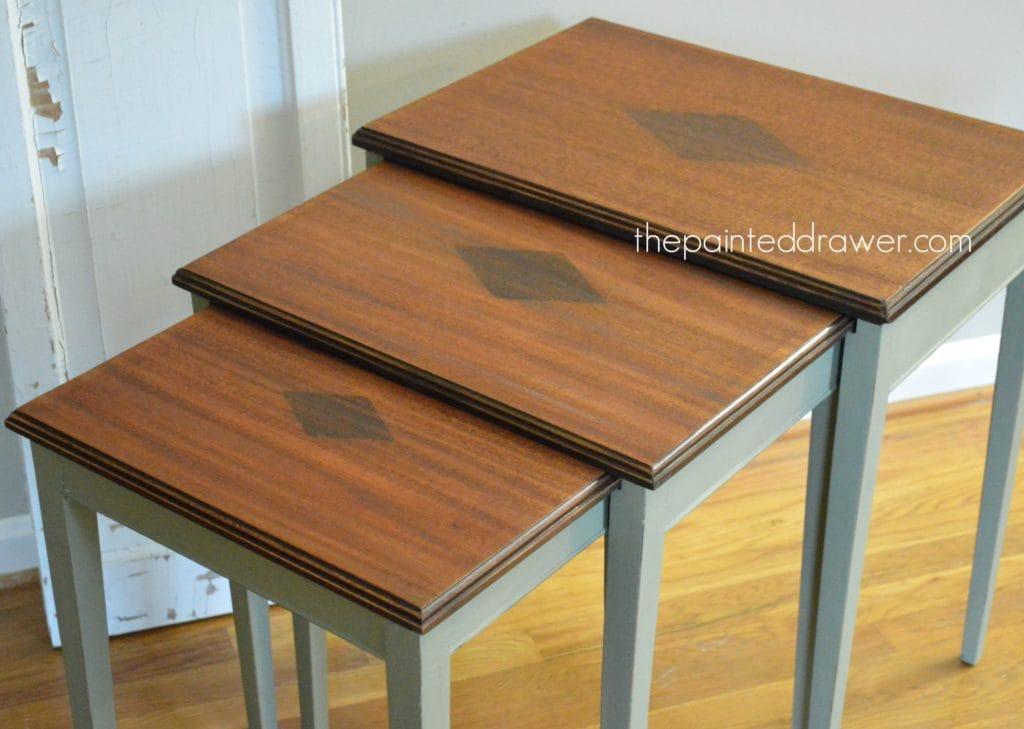Annie Sloan Chateau Grey table www.thepainteddrawer.com