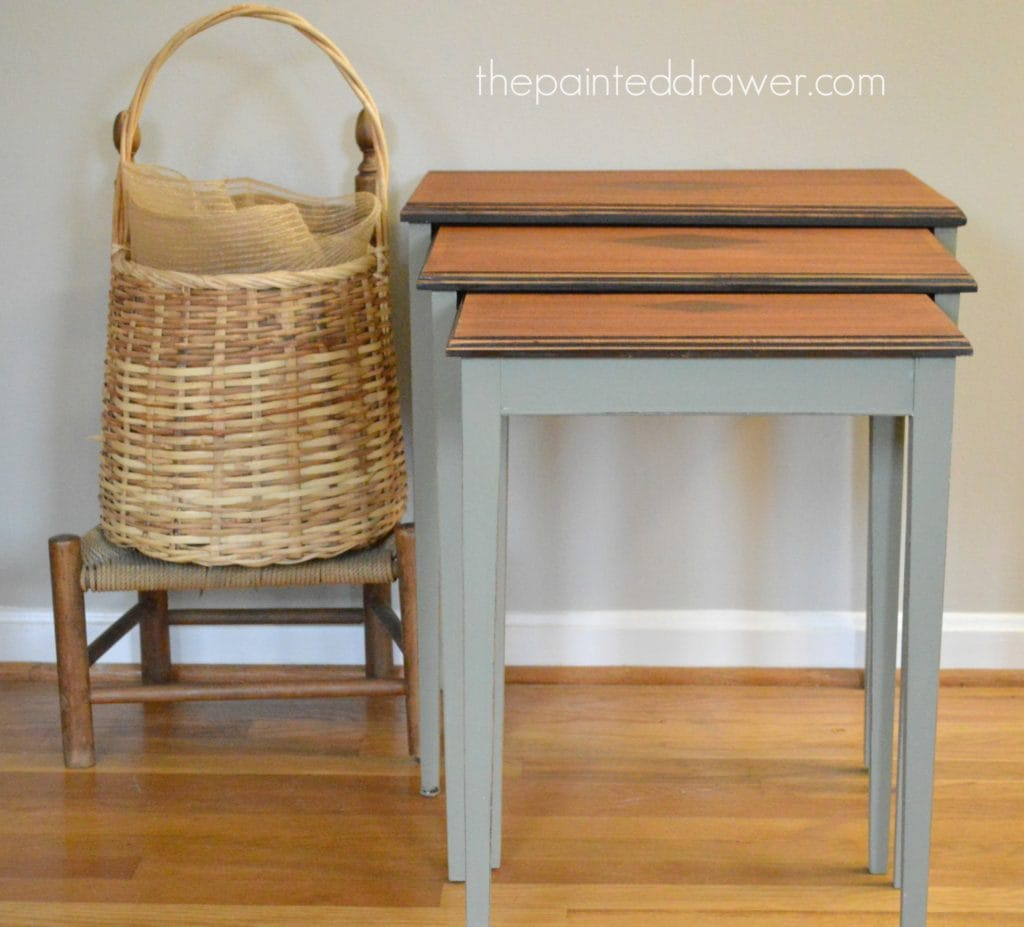 Annie Sloan Chateau Grey table www.thepainteddrawer.com