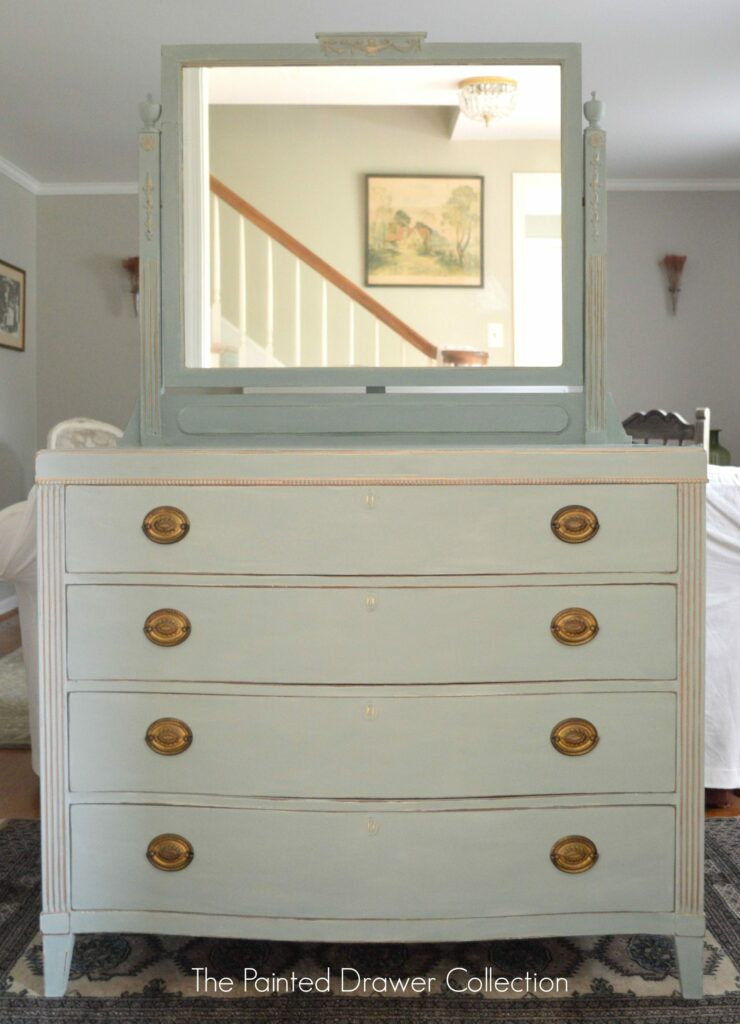 Antique Dresser in Duck Egg Blue www.thepainteddrawer.com