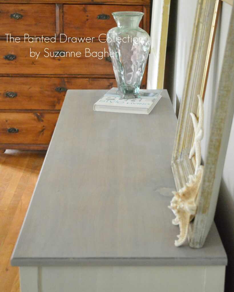 Beach Chic Dresser with Gray Wood Stain
