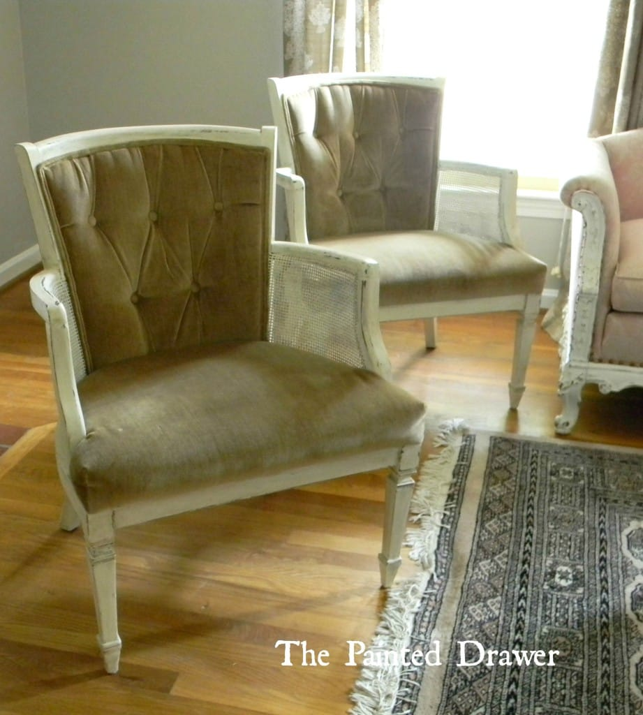 Caned Chair www.thepainteddrawer.com