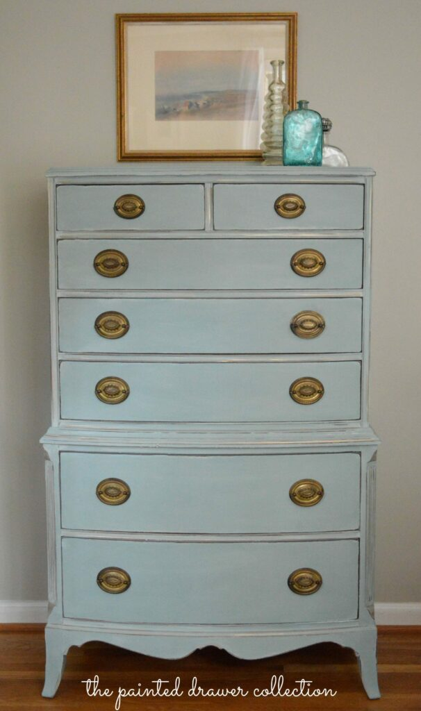 Vintage Dresser in Annie Sloan Duck Egg Blue – Before and After