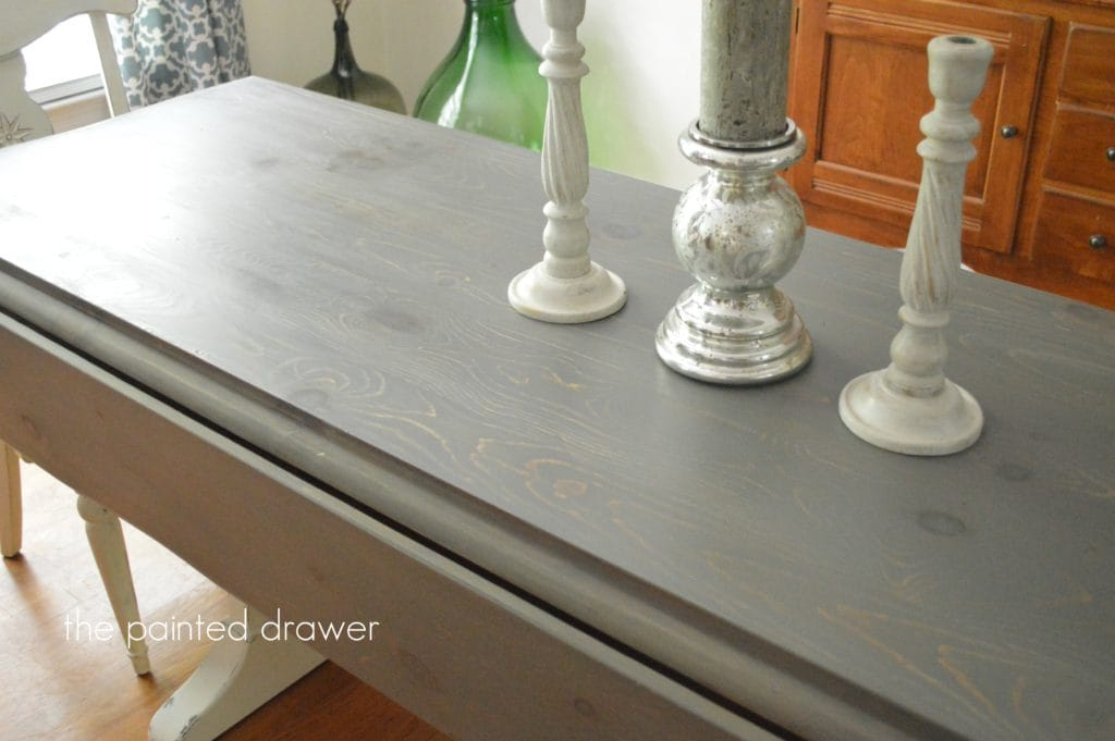 Gray Stain on Farmhouse Table