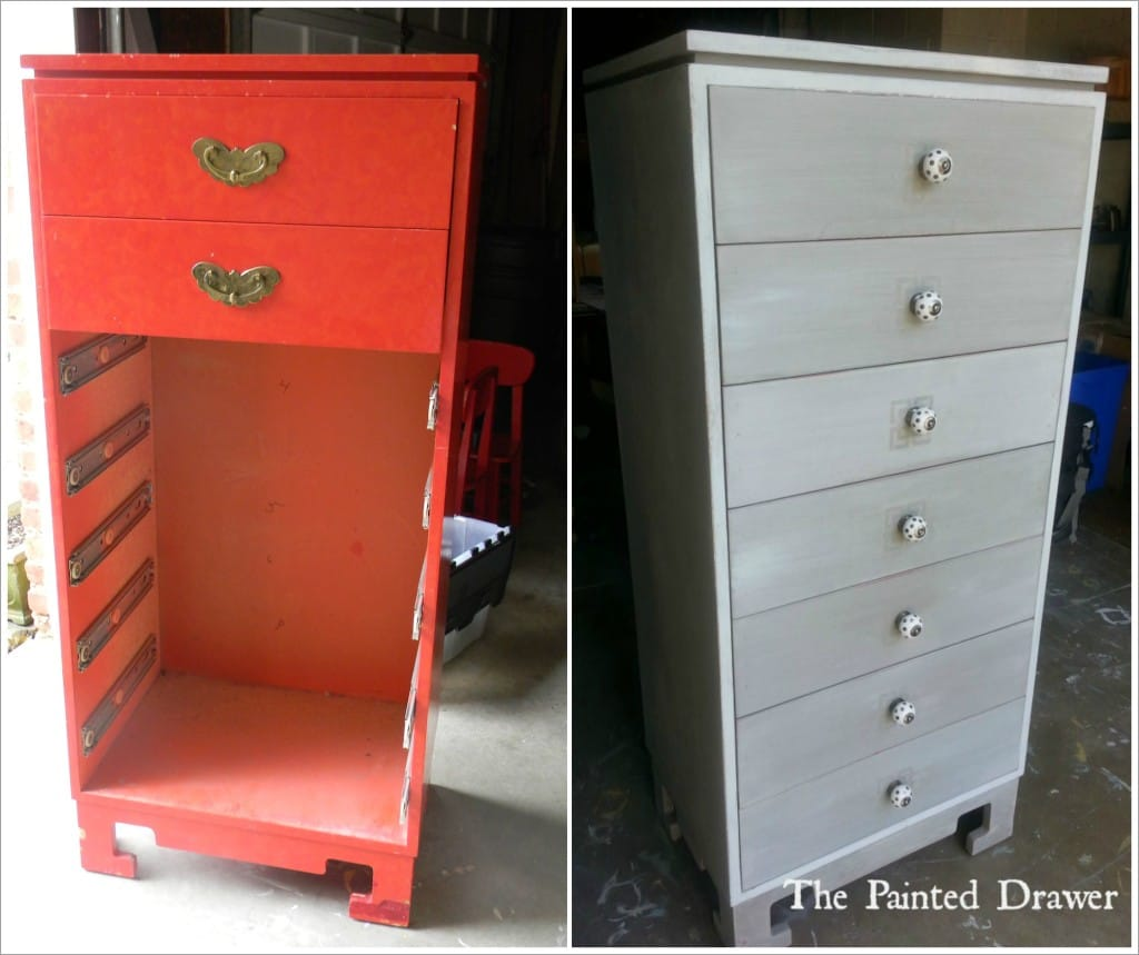 Painting over Laminate or Formica with Annie Sloan Chalk Paint www.thepainteddrawer.com