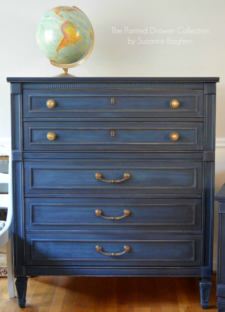 General-Finishes-Coastal-Blue Dresser www.thepainteddrawer.com