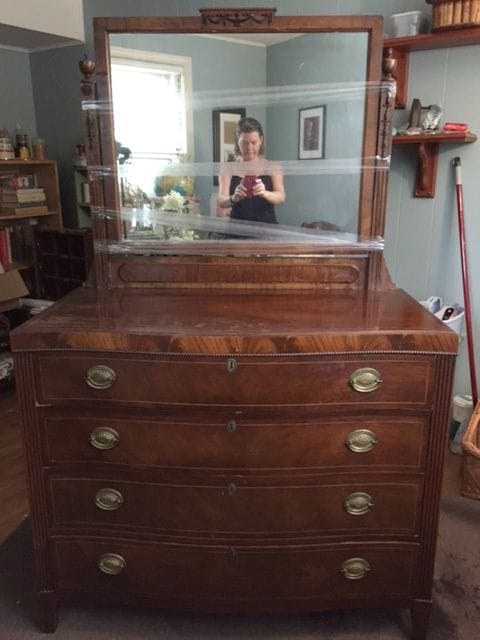 Favorite Find Monday – Gorgeous Vintage Chest with Mirror