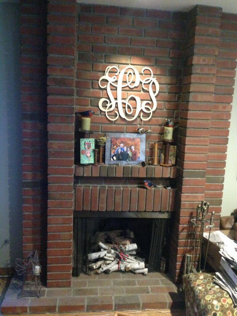 What Would YOU Do?  A Brick Fireplace In Need of a Makeover