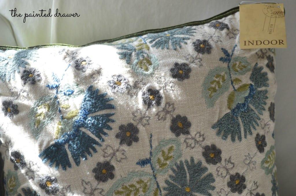 World Market Cushion www.thepainteddrawer.com