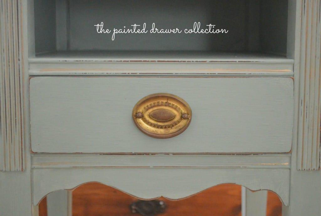 Vintage Table in Annie Sloan Duck Egg www.thepainteddrawer.com
