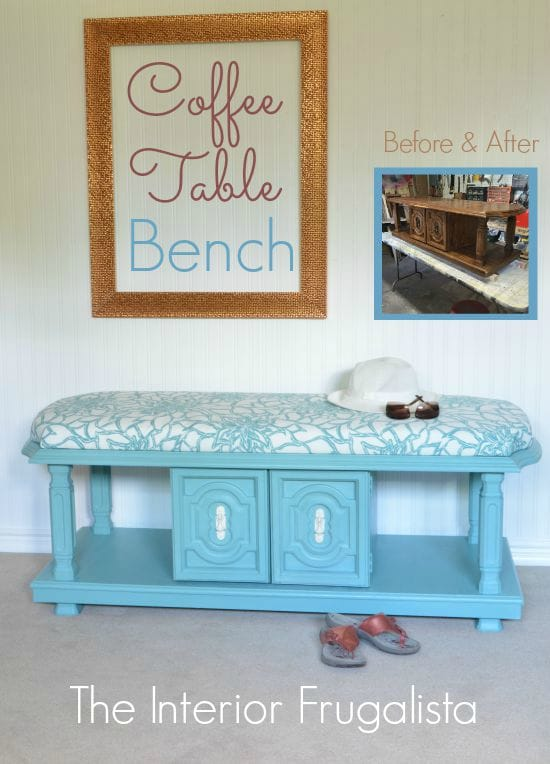 The Interior Frugalista Coffee Table Bench