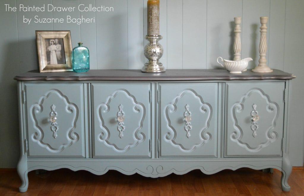 Vintage Bassett Cabinet www.thepainteddrawer.com