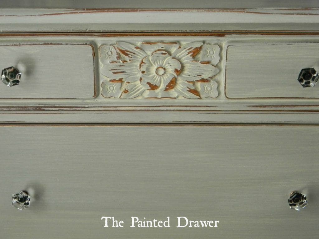 Paris Grey Dresser www.thepainteddrawer.com