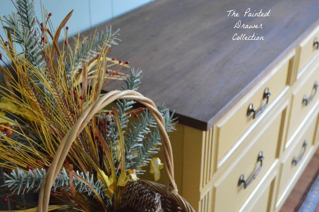 Autumn Mustard Dresser in General Finishes Somerset Gold www.thepainteddrawer.com