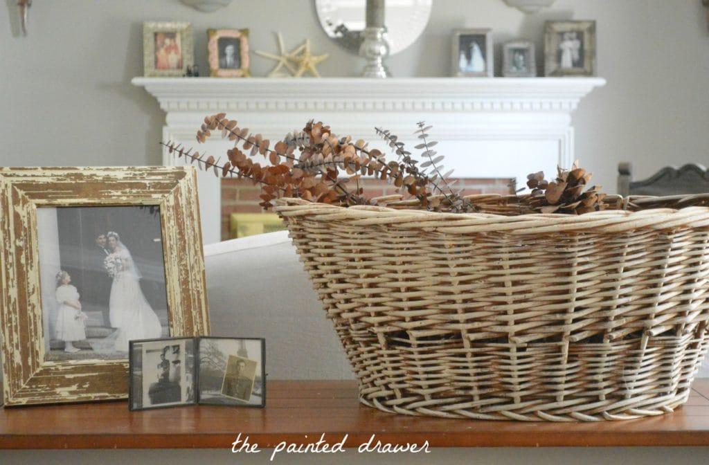 Vintage Basket www.thepainteddrawer.com