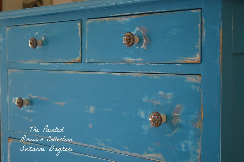 Corinth Blue Dresser www.thepainteddrawer.com