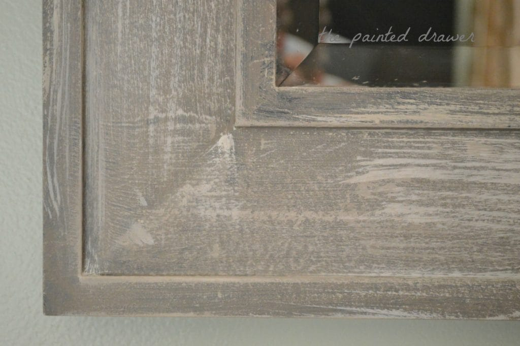 Weathered Wood Makeover Paint Application
