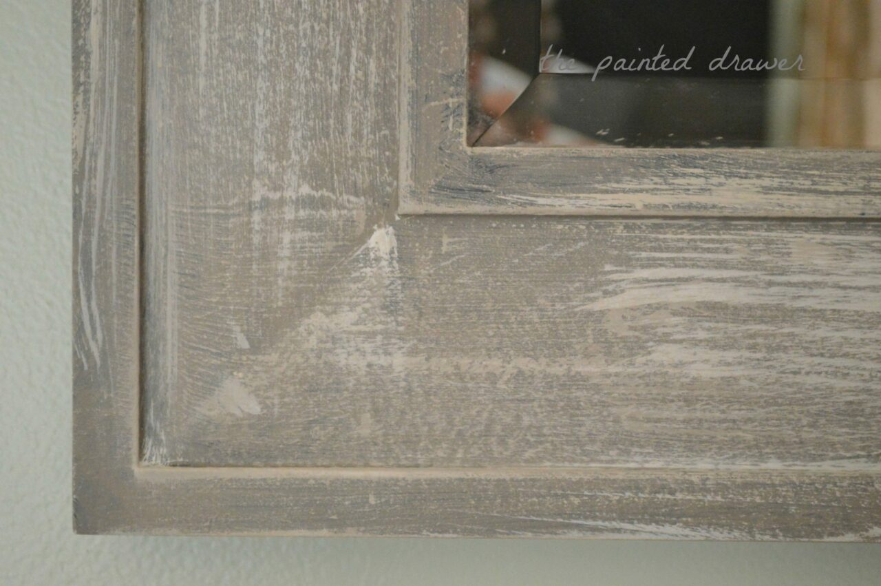 Tutorial create the weathered wood look with paint transform a cheap mirror Cheap wood paint
