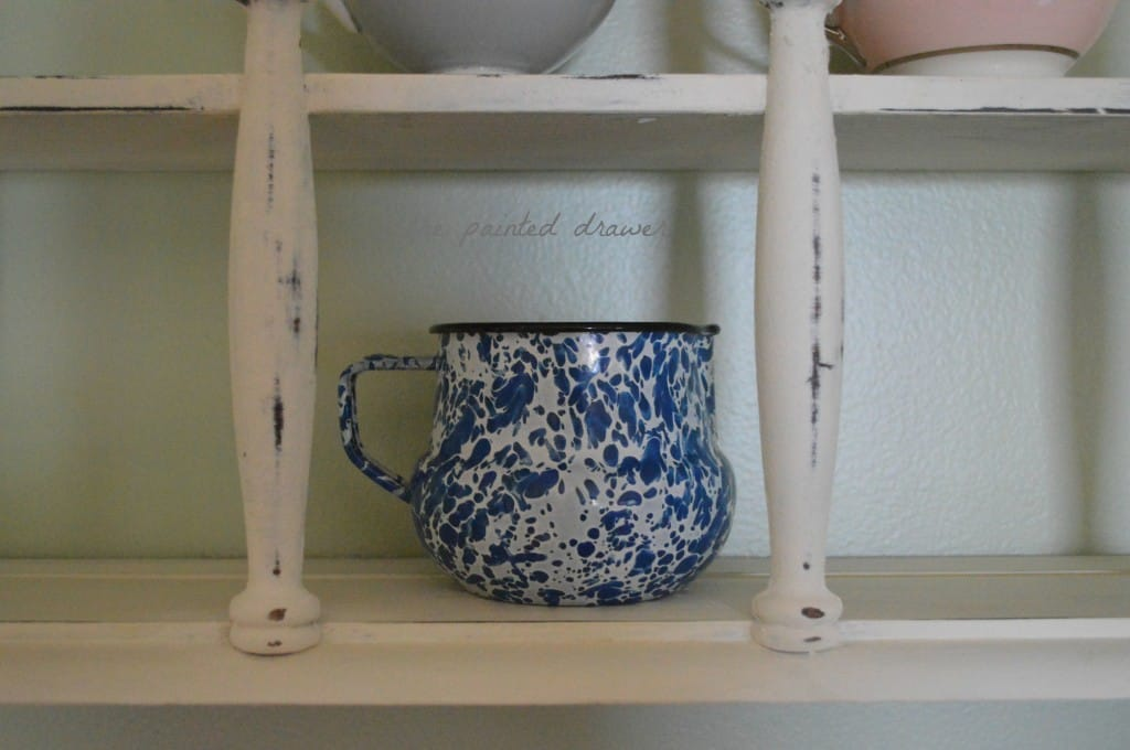 Shabby White Shelf www.thepainteddrawer.com