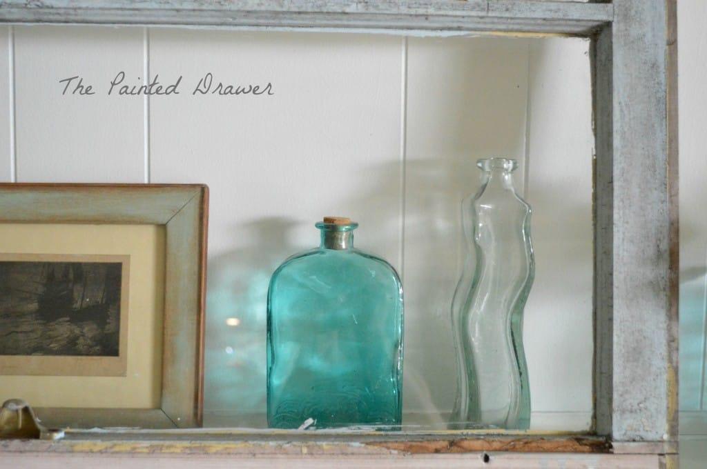 vintage bottles www.thepainteddrawer.com