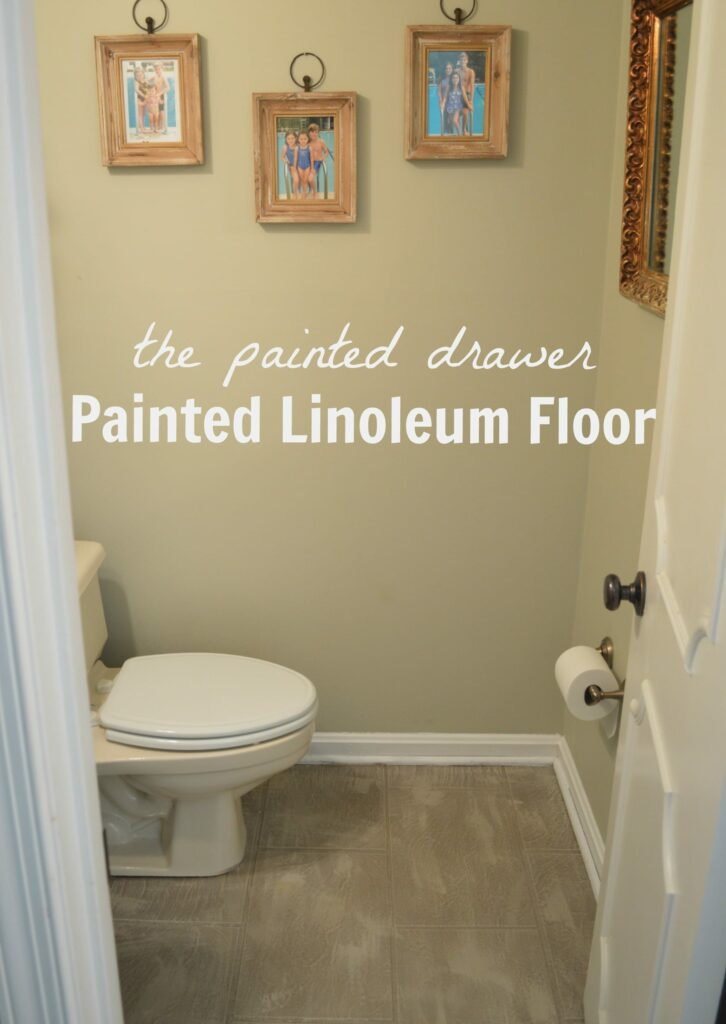 Painted Linoleum Floor with Annie Sloan Chalk Paint and Lacquer